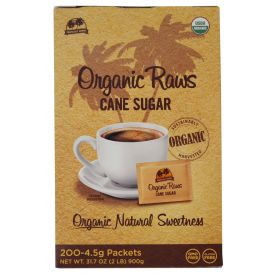 Maui Turbinado Organic Raw Cane Sugar Packets 4.5gm.