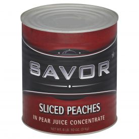 Savor Sliced Peaches In Juice 106oz.