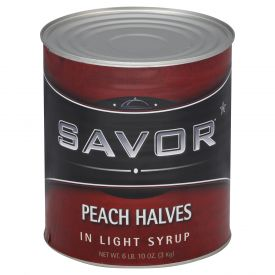 Savor Peach Halves In Light Syrup 106oz.