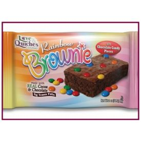Love and Quiches Rainbow Brownie 2oz.