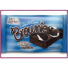 Love and Quiches Cookies & Cream Brownie 2oz