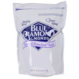 Sugar Foods Sliced Toasted Blanched Almonds 2lb.
