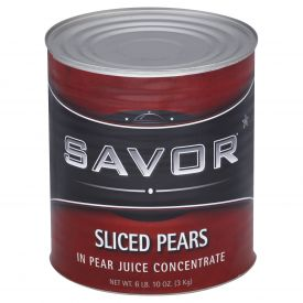 Savor Sliced Pear in Natural Juice 106oz.