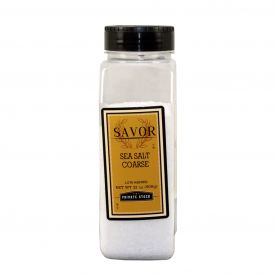 Savor Brand Sea Salt Coarse - 32 Oz