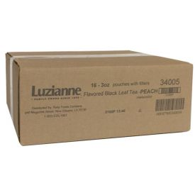 Luzianne Peach Flavored Black Tea 3oz.