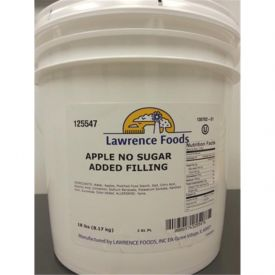 Lawrence Foods® Apple Filling 18lb.