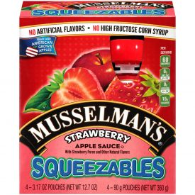 Musselman's Squeezables Strawberry Applesauce 3.17oz.