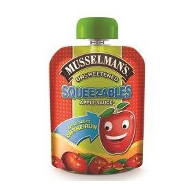 Musselman's Squeezables Unsweetened Applesauce 3.17oz.