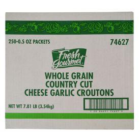 Fresh Gourmet® Whole Grain Country Cut Cheese Garlic Crouton 0.5oz.