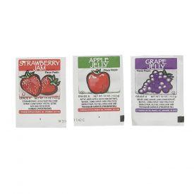 Flavor Fresh Assorted Grape/Strawberry/Apple Jelly 0.5oz.