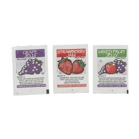 Flavor Fresh Assorted Grape/Strawberry/Mixed Fruit Jelly 0.5oz.
