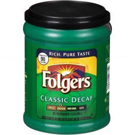 Folgers Decaf Classic Roast Canister 11.3oz.