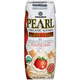 Kikkoman Pearl Organic Soymilk Smart Original 8oz.