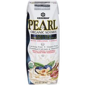 Kikkoman Pearl Organic Soymilk Smart Creamy Vanilla 8oz.
