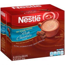 Nestle® Hot Cocoa Mix Fat-Free No Sugar Added 0.28oz.