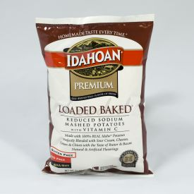 Idahoan Reduced Sodium Loaded Baked Mashed Potatoes - 31oz