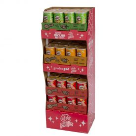 Pringles 3 Flavors Crisps w/Display Case 2.3oz