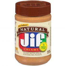 Jif Natural Creamy Peanut Butter 28oz.