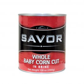 Savor Whole Baby Corn Cut - 108oz