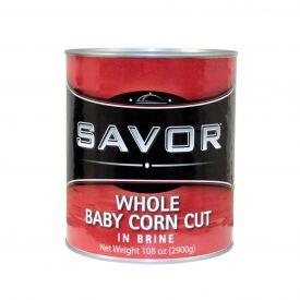 Savor Whole Baby Corn Cut - 108oz