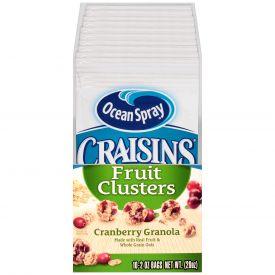 Ocean Spray Craisins Cranberry Granola Clusters 2oz.