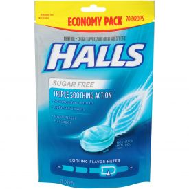 Halls Cough Drops Sugar-Free Mountain Menthol 70 count