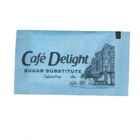 Cafe Delight Aspartame Sugar Substitute Blue Packet 0.8gm.