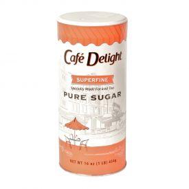 Cafe Delight Super Fine Sugar Canisters 16oz.