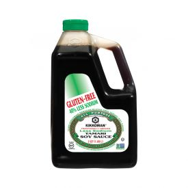 Kikkoman Gluten-Free 40% Less Sodium Tamari Soy Sauce 64oz.