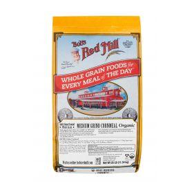 Bob's Red Mill Organic Whole Grain Medium Grind Cornmeal 25lb.