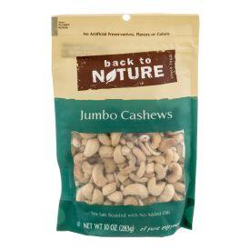 Back To Nature Sea Salt Roasted Jumbo Cashews 9oz.