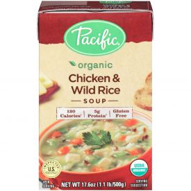 Pacific Foods Organic Chicken & Wild Rice Soup, 17.6 oz