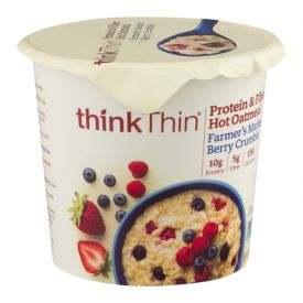 Thinkthin Farmer's Market Berry Crumble Oatmeal Bowls 1.76oz.