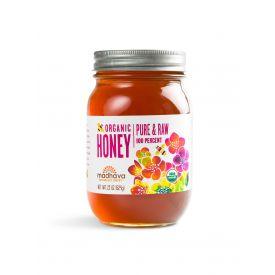 Madhava Organic Pure & Raw Honey 22oz.