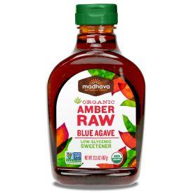 Madhava Honey Amber Raw Agave 23.5oz.