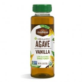 Madhava Honey Vanilla Flavored Agave Nectar 11.75oz.