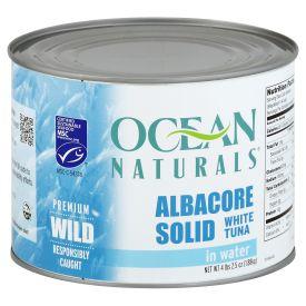Ocean Naturals Albacore Solid White Tuna 66.5oz.