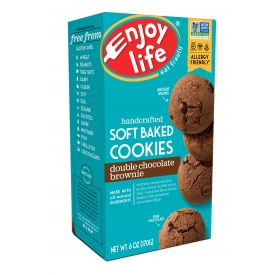 Enjoy Life Double Chocolate Brownie Soft Baked Cookies - 6oz