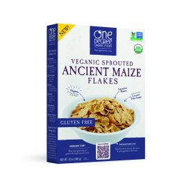 One Degree Veganic Sprouted Ancient Maize Flakes Cereal 12oz.