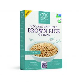 One Degree Veganic Sprouted Brown Rice Crisps Cereal 8oz.