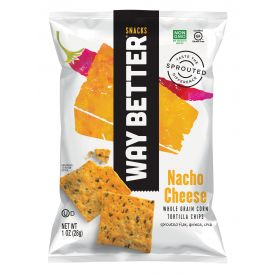 Way Better Snacks Nacho Cheese Tortilla Chips - 1oz