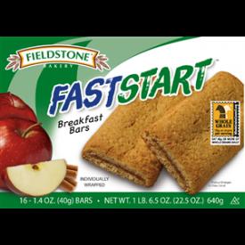 Fieldstone Faststart Apple Cinnamon Breakfast Bar - 1.41oz
