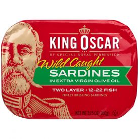 King Oscar Two Layer Sardines In Extra Virgin Olive Oil 3.75oz.