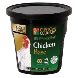 Custom Culinary Gold Label Gluten-Free Chicken Base - 1lb