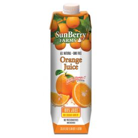 Sunberry Farms Orange Juice 33.8oz.