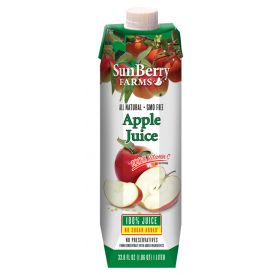 Sunberry Farms Apple Juice 33.8oz.