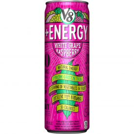 V8 + Energy White Grape Raspberry Juice 12oz.