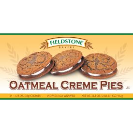 Fieldstone Bakery Oatmeal Creme Pie - 1.34oz