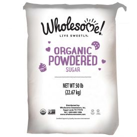 Wholesome Sweeteners Organic Powdered Sugar 50lb.