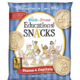 Dick & Jane Educational Snack States & Capitals 1oz